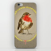 vintage winterbird iPhone & iPod Skin