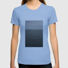 grey Womens Fitted Tee Athletic Blue SMALL