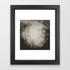 In These Final Hours Love Burns Strong (B&W) Framed Art Print