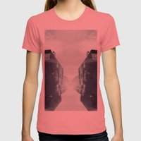 city in the sky Womens Fitted Tee Pomegranate SMALL