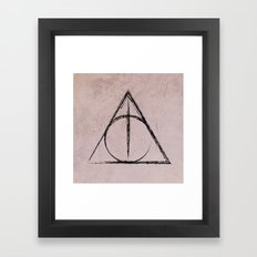 Deathly Hallows (Harry Potter) Framed Art Print
