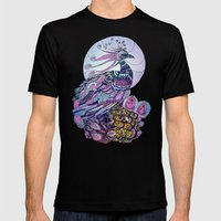 Peacock  Mens Fitted Tee Black SMALL