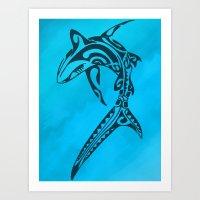 Sharked Art Print