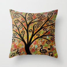 Abstract tree-12  Throw Pillow