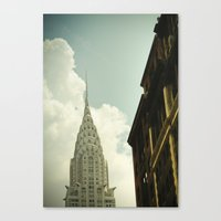 The city of the fighting styles Canvas Print