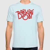 Brooklyn NY Mens Fitted Tee Light Blue SMALL