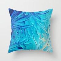WATER FLOWERS - Beautifu… Throw Pillow
