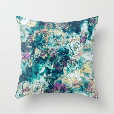 Frozen Flowers Throw Pillow