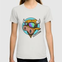 MooMooDecks Womens Fitted Tee Silver SMALL