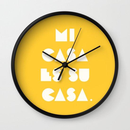 Mi casa es su casa. Wall Clock
