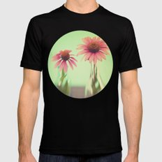 The Coneflowers III Mens Fitted Tee Black SMALL