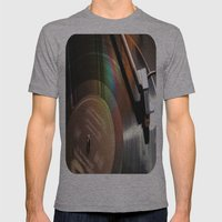 Vinyl Rainbow Mens Fitted Tee Athletic Grey SMALL