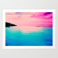 Paradise Is Open To All … Art Print