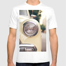 The car White Mens Fitted Tee SMALL