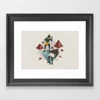 Moses Murders A Man (By … Framed Art Print