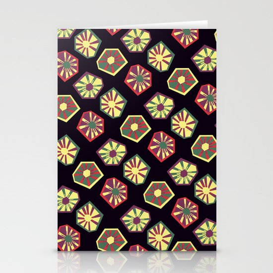 Bursting and Blooming Stationery Card
