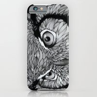 owl iPhone & iPod Cases featuring Owl by Puddingshades