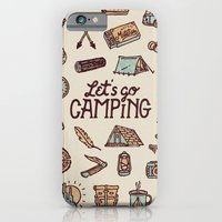 iPhone & iPod Case featuring Lets Go Camping by WEAREYAWN
