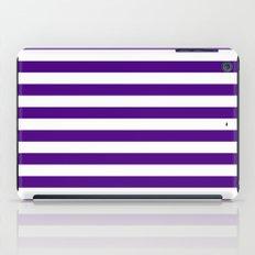 Horizontal Stripes (Indigo/White) iPad Case