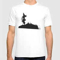 Bat Noir Mens Fitted Tee White SMALL