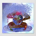 Mother Earth is Melting Canvas Print