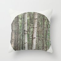 robert frost's birch trees Throw Pillow