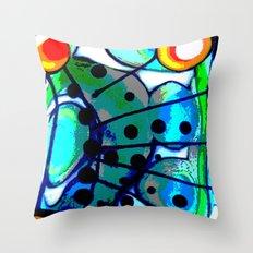 Abstract Explotion Throw Pillow