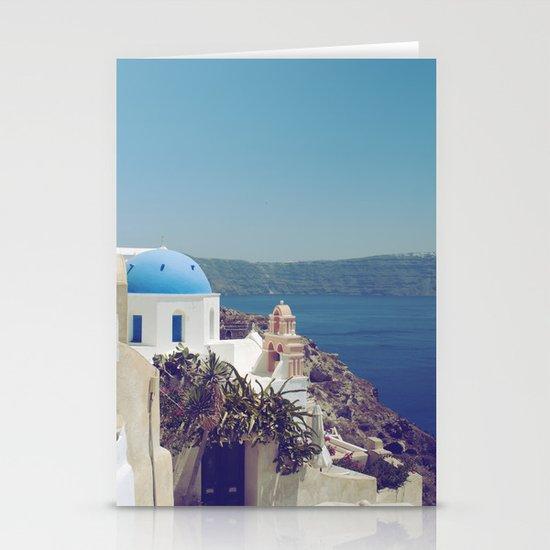 Santorini Door VI Stationery Card