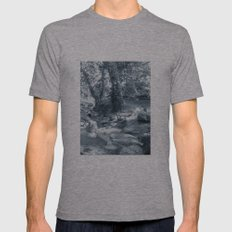Et au milieu coule la rivière  Mens Fitted Tee Athletic Grey SMALL