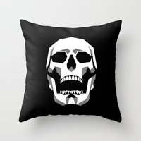 Grim Geometry Throw Pillow