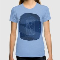 All Of Time And Space Womens Fitted Tee Athletic Blue SMALL