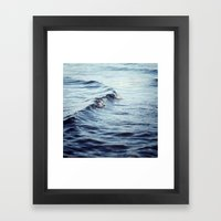The Curl Framed Art Print