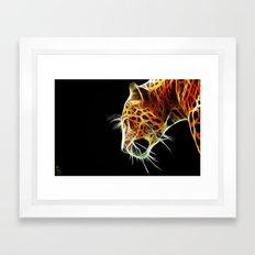 Fractal Leopard Framed Art Print