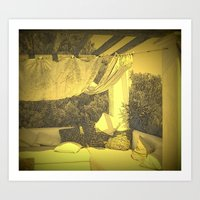 Loungy Ibiza Art Print