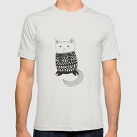 Cat with pattern  Mens Fitted Tee Silver SMALL