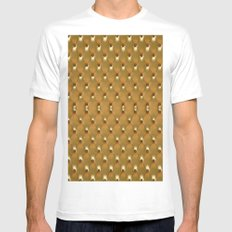 Luxury Golden Leather Ve… Mens Fitted Tee White SMALL