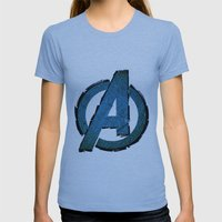 UNREAL PARTY 2012 AVENGERS LOGO FLYERS Womens Fitted Tee Athletic Blue SMALL