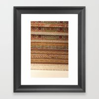 Moroccan Palace Patterns Framed Art Print