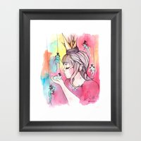You Have To Kiss Many Fr… Framed Art Print