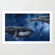 The Whale Who Met  Itsel… Art Print