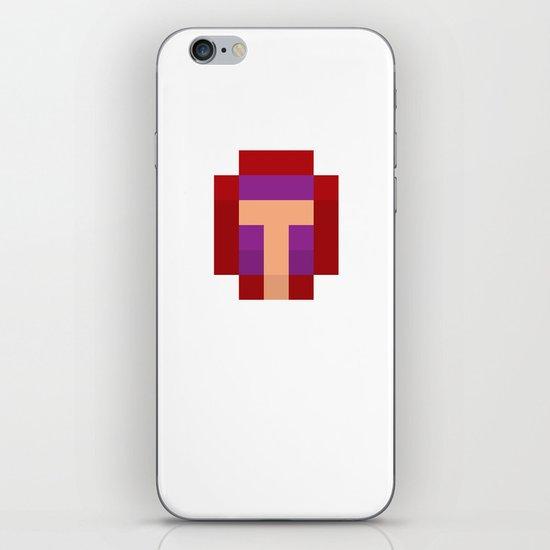 hero pixel purple red iPhone & iPod Skin