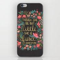 Little & Fierce On Charc… iPhone & iPod Skin