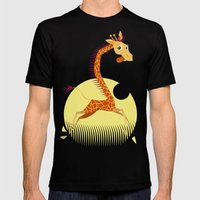Giraffe Mens Fitted Tee Black SMALL