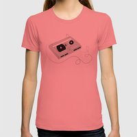 Mix Tape Womens Fitted Tee Pomegranate SMALL
