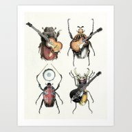 Meet The Beetles (white … Art Print
