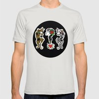 Scooby Doo Vs Scooby Dum… Mens Fitted Tee Silver SMALL