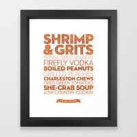 Charleston — Delicious… Framed Art Print