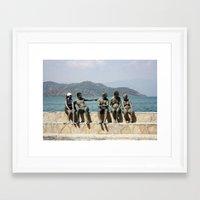 People Taking A Mudbath … Framed Art Print