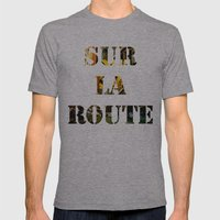 Sur La Route Mens Fitted Tee Athletic Grey SMALL