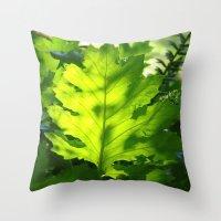 Green Touch Throw Pillow
